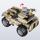 415Pcs 2.4G DIY Assembly RC Transformable Battle Car Vehicle Building Block Kit with Two Kinds of Model