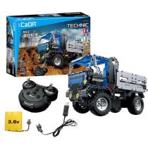 638Pcs 2.4G DIY Assembly RC Dump Truck Building Block Kit