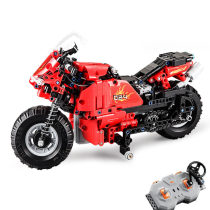 484Pcs 2.4G Building Blocks Remote Control Toy Track Motorcycle Assemble RC Motorbike Model Technic Educational Toys