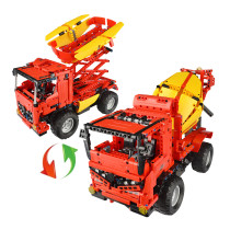 815Pcs 2.4G DIY Assembly RC Deformed Mixer Truck Building Block Kit with Two Kinds of Model