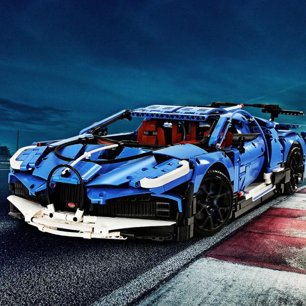 Technic 42083 Bugatti Chiron Car Model, 3858Pcs 1:8 Static Version DIY Sport Racing Car Building Blocks Toys