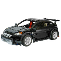 592Pcs MOC Modern Technic Building Block Vehicle Simulation 4CH Lithium Battery RC Sports Car Assembly Vehicle Toy - Remote Control Version Black