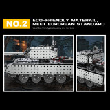 952Pcs 1:16 Stainless Steel RC Tank Vehicle Building Block DIY Small Particle Construction Model Toy