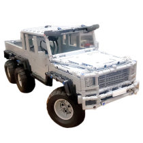 1674Pcs MOC Electric Remote Control 6X6 Wild Pickup Truck Model Small Particle Building Blocks Educational Toy Set