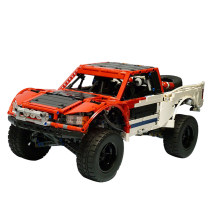 1718Pcs MOC RC Off-road Truck Vehicle Model High Level Assembly Small Particle Building Block Set with Motor and Remote Control