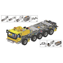 326Pcs MOC Small Particle Building Blocks Modified Pack for LEGO 42009 MK II Mobile Crane(Only Modified Pack and Electronic Parts )