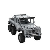 1700Pcs MOC RC 6-Wheeled Off-road Vehicle Model High Level Assembly Small Particle Building Block Set with Motor and Remote Control