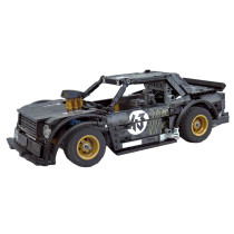 749Pcs MOC Electric Remote Control Mini Racing Car Model Small Particle Building Blocks Educational Toy Set - Black