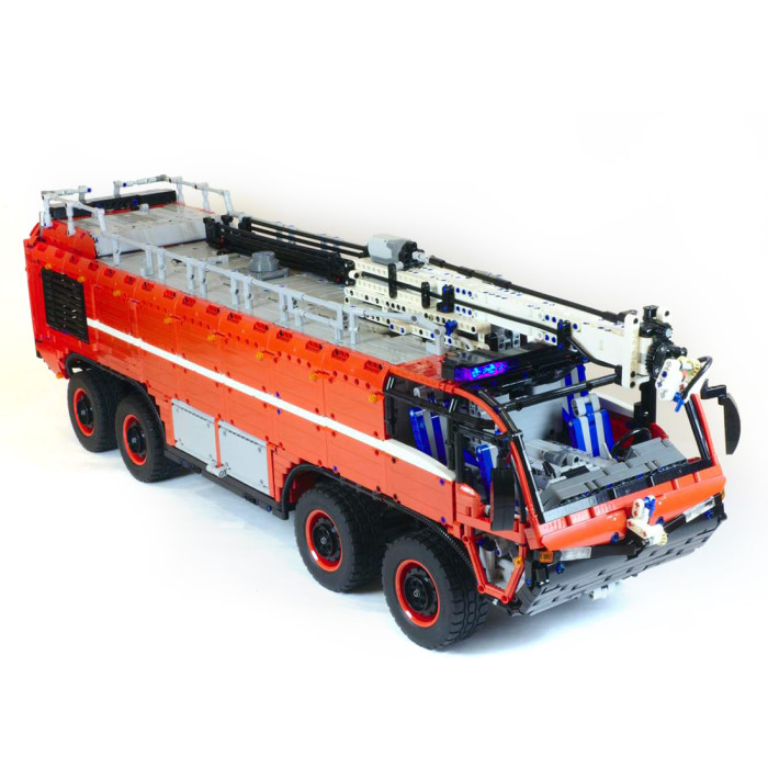 7177Pcs High Level MOC RC Airport Fire Fighting Truck Building Block Model DIY Construction Model with Motor