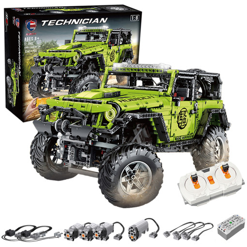 Technic Jeep Wrangler Rubicon Model 2343Pcs Assembly Off Roader Custom Construction Building Blocks Kits for Kids with RC Motor Compatible Major Brands