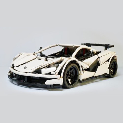 1906Pcs MOC RC Icarus Supercar Vehicle Model High Level Assembly Small Particle Building Block Set with Motor and Remote Control