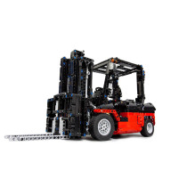 1768Pcs MOC RC Forklift Vehicle Model High Level Assembly Small Particle Building Block Set with Motor and Remote Control
