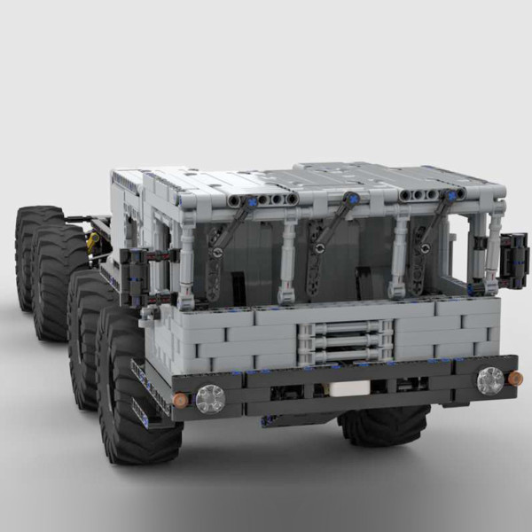 1947Pcs MOC Electric Remote Control Climbing Off-road 8X8 Military Truck Model Small Particle Building Blocks Educational Toy Set