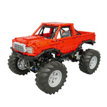 1668Pcs MOC Electric Remote Control Bigfoot Climbing Off-road Car Model Small Particle Building Blocks Educational Toy Set