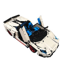 3556Pcs MOC RC Sports Car Vehicle Model High Level Assembly Small Particle Building Block Set with Motor and Remote Control - White