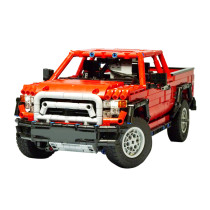 1606Pcs MOC Electric Remote Control 4X4 Climbing Pickup Truck Model Small Particle Building Blocks Educational Toy Set