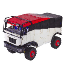 3320Pcs MOC High Simulation Technic Trucks Rally Off-road Truck Blocks Small Particle Building Block Without Pneumatic Parts - Electric Remote Control Version