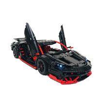 2429Pcs MOC RC Cool Sports Car Vehicle Model High Level Assembly Small Particle Building Block Set with Motor and Remote Control