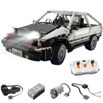 862Pcs 2.4G Remote Control Drift Car Vehicle Building Block Model DIY Construction Model