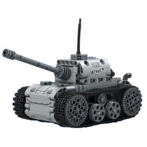 378Pcs DIY Building Block RC Tank Destroyer Construction Model