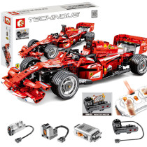 Technic Ferrari F1 RC Race Car, 585Pcs 2.4G RC Multichannel Formula Racing Sports Car Building Block Toys