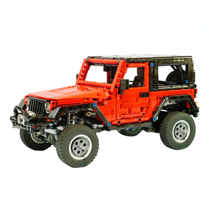1371Pcs MOC Electric Remote Control Wasteland Off-road Vehicle Model Small Particle Building Blocks Educational Toy Set