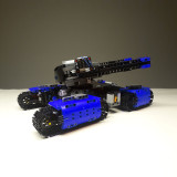 1550Pcs Moc Tank Building Blocks High Simulation Technic Turret Launches Automatically Loaded Combat Tank Bricks - Remote Control Version Red