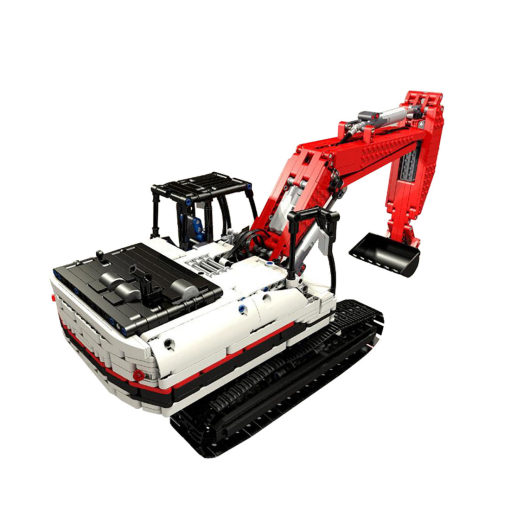 1929Pcs MOC RC Excavator Construction Vehicle Model High Level Assembly Small Particle Building Block Set with Motor and Remote Control