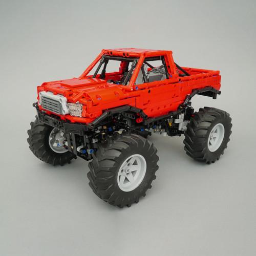 1668Pcs MOC Electric Remote Control Bigfoot Climbing Off-road Car Model Small Particle Building Blocks Educational Toy Set