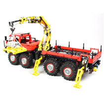 3053Pcs MOC Electric Remote Control Climbing Off-road 8X8 Mountain Car Model Small Particle Building Blocks Educational Toy Set