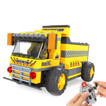 217Pcs DIY Small Particle Assembly Remote Control Truck Construction Building Kit for 100% Building Block Brands