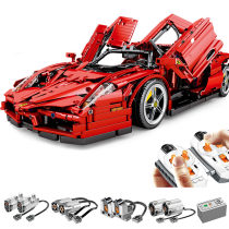 2615Pcs 1:10 Scale 2.4G RC Multichannel Sports Car Building Block MOC Small Particle Construction Building Kit Stem Toy with 5 Motors