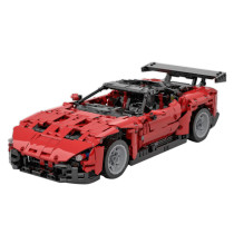 1671Pcs Moc Small Particles Sports Car Building Blocks High Simulation Modern Technic Vehicle Toy RC Assembly Car Model - Remote Control Version Red