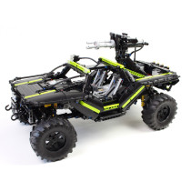 2000Pcs MOC Electric Remote Control Off-road Vehicles Model Small Particle Building Blocks Educational Toy Set - Black