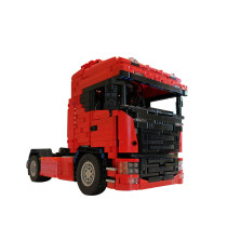 1661Pcs MOC RC Truck Vehicle Model High Level Assembly Small Particle Building Block Set with Motor and Remote Control