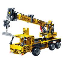 712Pcs Infrared Remote Control Crane Building Block Construction Model Toy Set