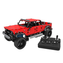817Pcs 1:16 Stainless Steel RC Pickup Truck Vehicle Building Block DIY Small Particle Construction Model Toy