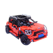 2562Pcs MOC RC Mini Car Vehicle Model High Level Assembly Small Particle Building Block Set with Motor and Remote Control