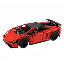 1676Pcs MOC Sports Car Vehicle Model High Level Assembly Small Particle Building Block Set with Motor and Remote Control