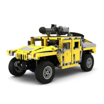 1240Pcs MOC RC Large Off-road Vehicle Model High Level Assembly Small Particle Building Block Set with Motor and Remote Control