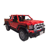 1606Pcs MOC RC 4WD Truck Vehicle Model High Level Assembly Small Particle Building Block Set with Motor and Remote Control