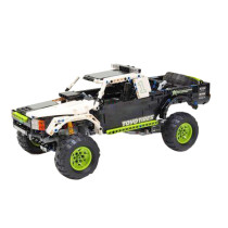 1007Pcs MOC RC Monster Truck Vehicle Model High Level Assembly Small Particle Building Block Set with Motor and Remote Control