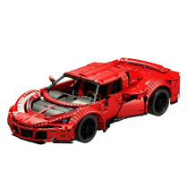 3006Pcs MOC RC Sports Car Vehicle Model High Level Assembly Small Particle Building Block Set with Motor and Remote Control