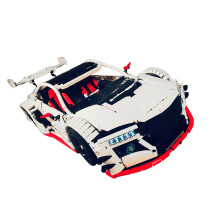 1879Pcs MOC Japanese Style RC Sports Car Vehicle Model High Level Assembly Small Particle Building Block Set with Motor and Remote Control