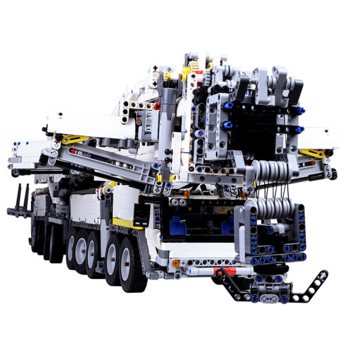 Technic Custom Building Blocks, 7692Pcs Assembly Liebherr Crane Model Building Kit with RC Motor and Remote Control Toy