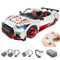 3408Pcs MOC High Housepower RC Sports Car Vehicle Building Block DIY Construction Model Toy