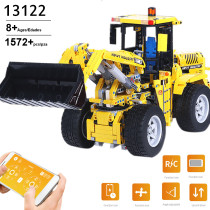 1572Pcs APP 2.4G Remote Control DIY Assembly Bulldozer Building Blocks Construction Model Toy