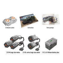 Building Block Motor Battery Remote Control Mechanical Power Kit