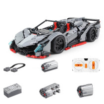 3427Pcs 1:8 Assembly Vehicle Bricks Sports Car Small Particle Building Block Model - Remote Control Version