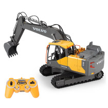 2.4G Remote Control Construction Toy Excavator Navvy Engineering Truck Model Electric Toys for Kids